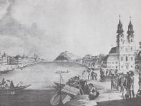 1835, Bomba (Batthyány) tér, 1. kerület