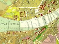 1833, Térképrészlet, 1. kerület, és  4. -1950-től- 5. kerület