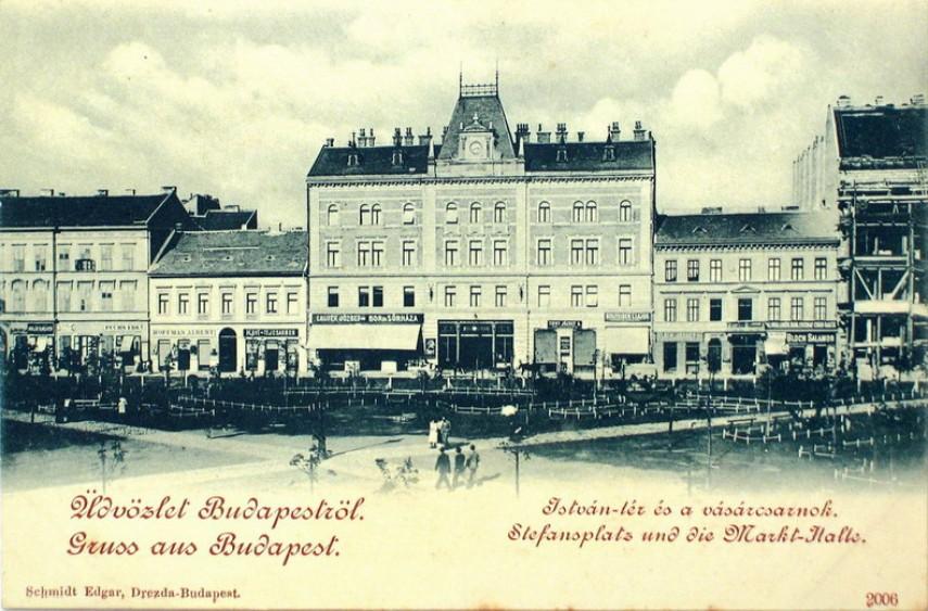 1900 táján, István (Klauzál) tér, 7. kerület