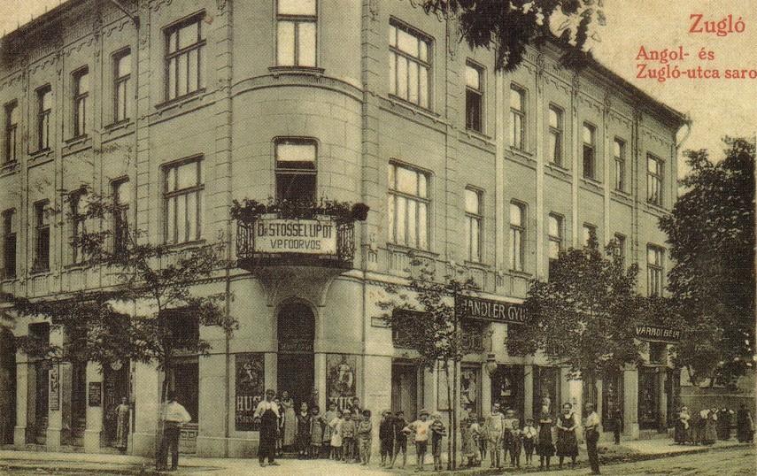 1910-es évek Zugló (Szugló) utca az Angol utcánál, 14. kerület