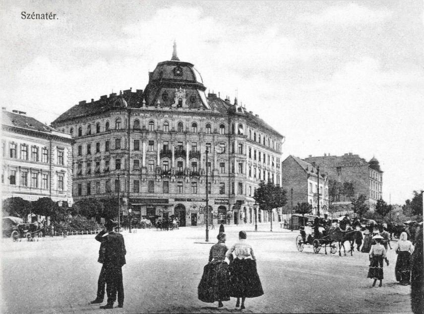 1910 körül, Széna tér, 1. kerület