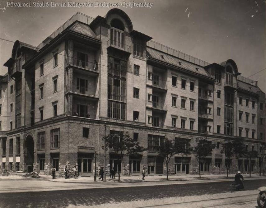 1911 táján, Lehel utca a Taksony utcánál, 13. kerület