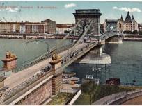 1913, Clark Ádám tér, a Lánczhíd (Lánchíd), 1. kerület