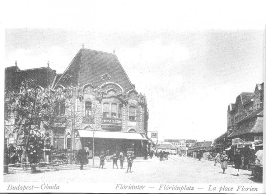 1929, Flórián tér, Weisz áruháza, 3. kerület