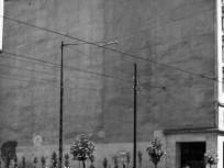 1961, Rákóczi út - Szövetség utca sarok, a lerombolt Divatcsarnok helye