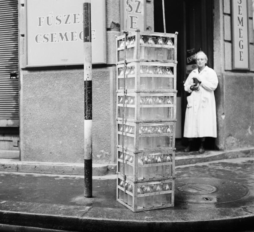 1960, Szentkirályi utca a Baross utcánál, 8. kerület