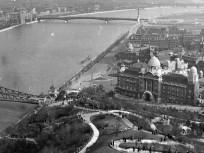 1943, látkép Lágymányos felé a Gellérthegy felől, 11. kerület