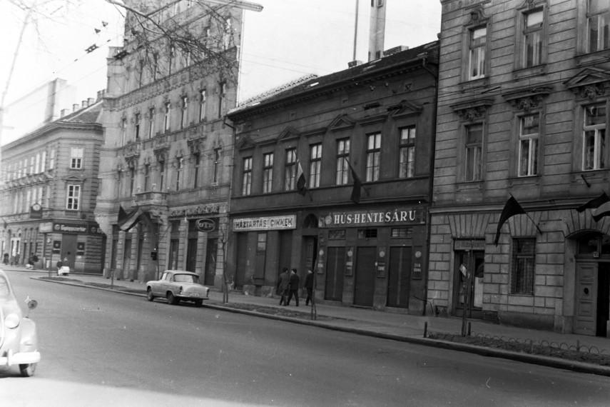 1964, Baross utca az egykori Kemény Zsigmond utca előtt, 8. kerület