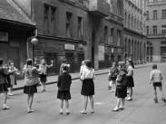 1959, Lovag utca a Nagymező utca felé nézve, 6. kerület