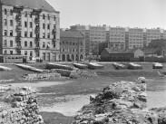 1967, az Aquincumi katonai amfiteátrum a Viador utca felől, 3. kerület