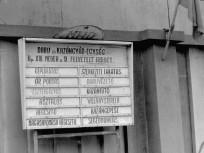 1975, Meder utca, MHD, álláshirdető-tábla, 13. kerület