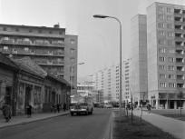 1977, Kórház utca a Polgár utca felől a Miklós utca felé, 3. kerület