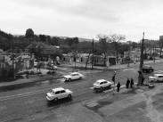 1975, a későbbi BAH csomópont a Budaörsi út felől nézve, 12. kerület