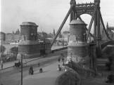 1912, Döbrentei tér, Erzsébet híd budai hídfő, 1. kerület