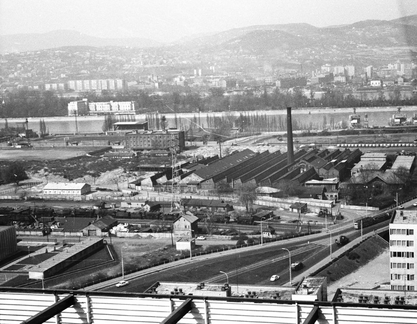 1974 táján, a Vizafogó pályaudvar, 13. kerület