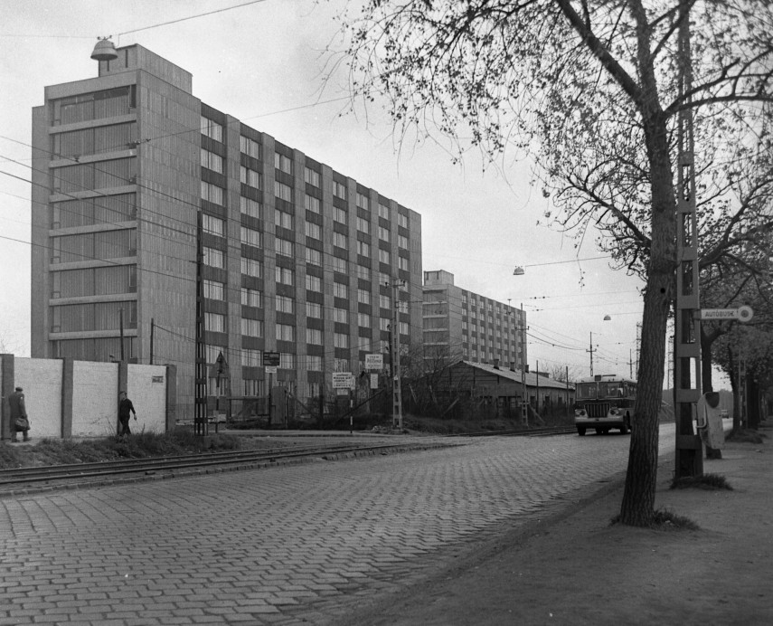 1978 táján, Maglódi út a Venyige utcánál, 10. kerület