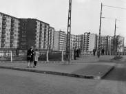 1966, Árpád híd pesti hídfő a Népfürdő utcánál, 13. kerület