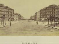 1880 táján, Sugár (Andrássy) út az Oktogonnál, 6. kerület