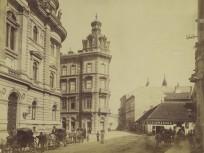 1876-1884, Ferenciek tere, szemben az Egyetem (Károlyi) utca