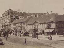 1895 táján, Károly körút a Király utca felé nézve