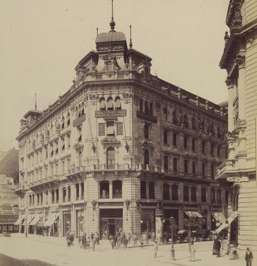1896 táján, Kossuth Lajos utca, Belváros1895 táján, Kossuth Lajos utca, 4. (1950-től 5.) kerület