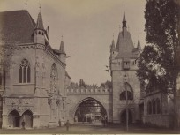 1885, Városliget, Vajdahunyad vára belülről, 14. kerület