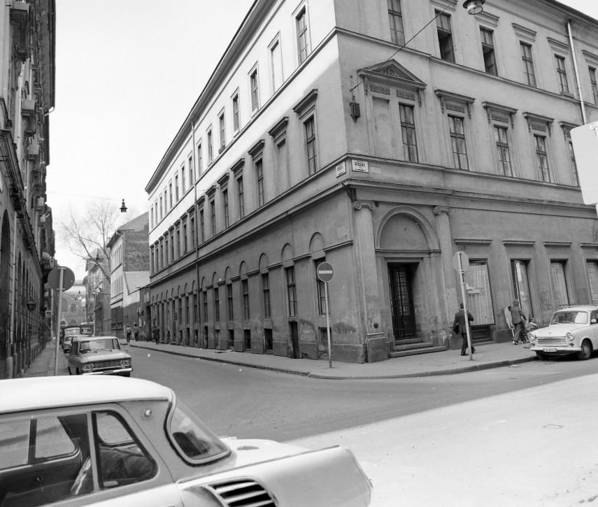 1976, Erkel utca a Ráday utca felől, 9. kerület