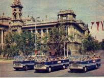 1960-as évek, Kossuth Lajos tér, a városnéző autóbuszok