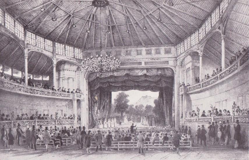 1845,(a későbbi Alagút utca), a Budai Színkör, 1. kerület
