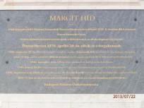 2013, Margit híd, emléktábla, 5.kerület