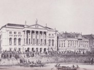 1845 táján, Redoutenplatz (Vigadó tér), a pesti Redout, 4. (1950-től 5.) kerület