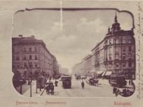 1900 táján, a Ferenc körút a József körút felől, 9. kerület