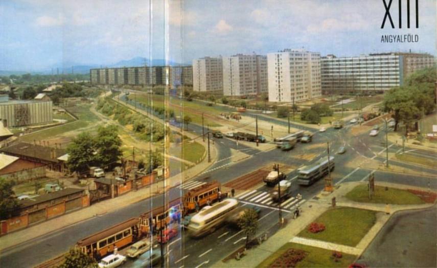 1970-es évek, a Váci út-Árpád híd csomópont, 13. kerület
