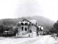 1910 körül, Zugligeti út 64, a világ legszebb villamosmegállója 12. kerület