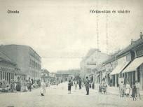 1910 táján Flórián-utcza és vásártér (Flórián tér), 3. kerület