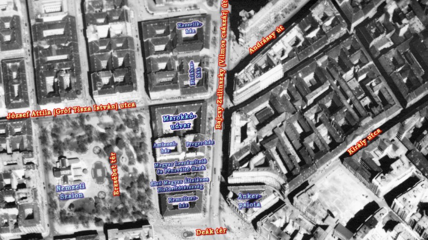 1944, Bajcsy-Zsilinszky út és környéke, fentről