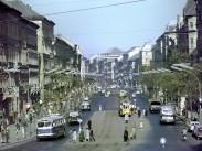 1961, Ferenc körút a Boráros tér felől, 9. kerület