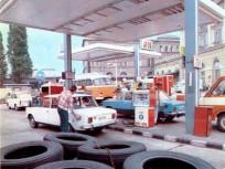 1980, Baross tér, ÁFOR benzinkút, 8. kerület