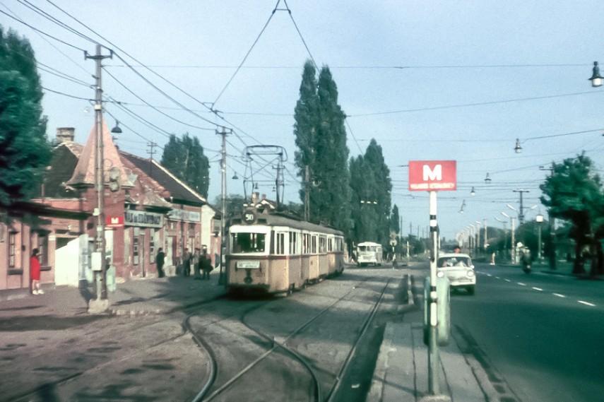 970 táján Vörös hadsereg útja (Üllői út) a Szatmárnémeti utcánál, 18. kerület