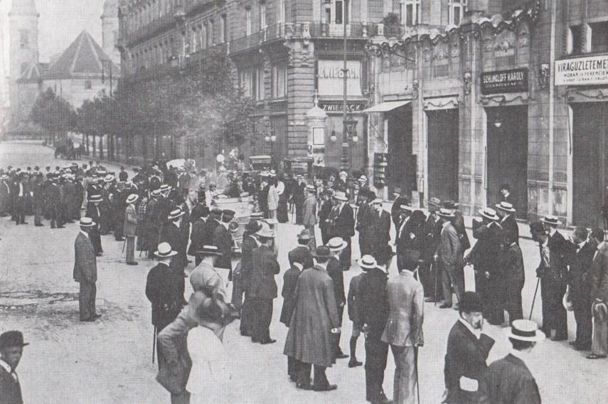 1910 táján, Eskü (Szabadsajtó) út, 5. kerület