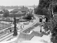 Erzsébet híd(-ak) és környékeik, Döbrentei tér 1947, 1. kerület