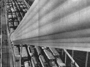 1964, Erzsébet híd, a háttérbrn az 1. kerület