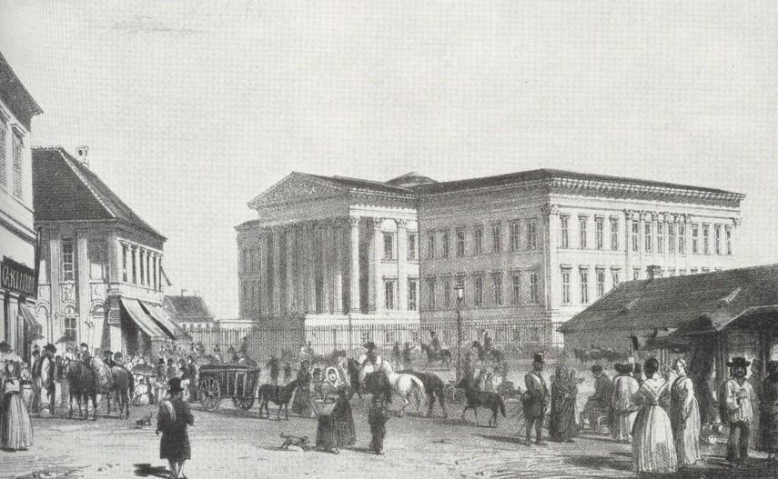 1853, Heu Markt (Széna piac) Kálvin tér, 8. kerület