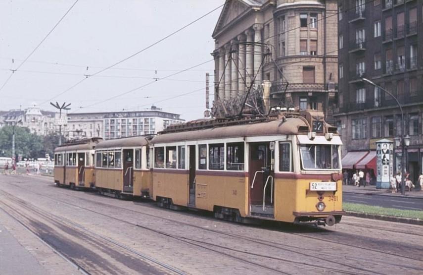 1970-es évek, Tanács (Károly) körút a Madách térnél, 7. 6. és 5. kerület