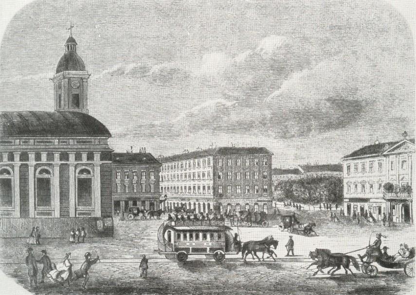 1870-es évek eleje, Deák Ferenc tér, 1950-ig 4., 1950-től 5. kerület
