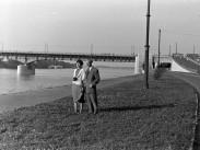 1955, a Sztálin (Árpád) híd szigeti lehajtója, 13. kerület