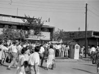 1958, Népfürdő utca, a Dagály (Szabadság) fürdő bejárata, 13. kerület