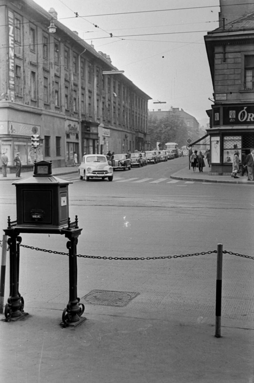 1962, József Attila utca a Bajcsy-Zsilinszky út felől, 5. kerület