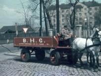 1951, Kerekes utca, balra a Szent László út. A háttérben balra a Szegedi út - Szent László út sarkán álló ház, 13. kerület