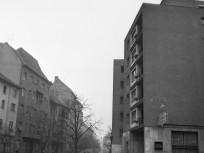 1965, Maros utca a Csaba utcánál: a BUDAI LÚDLÁB étterem